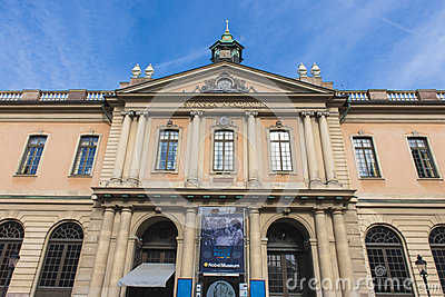Nobel Museum and Academy, Stockholm Editorial Photography