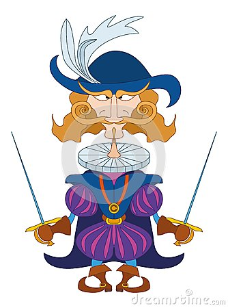 Japanese Samurai Character With Backpack Royalty Free ...