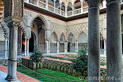 Noble house patio in Seville, Spain