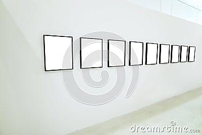 Nobody in the museum interior