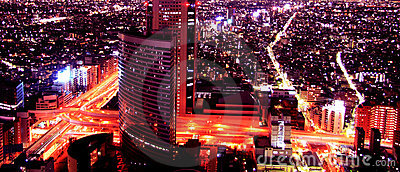 Nocturnal aerial view