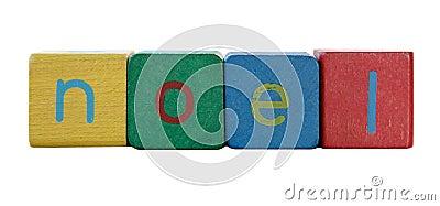 Noel in children s block letters