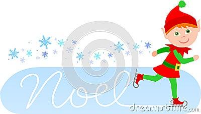 Noel Skating Elf/eps