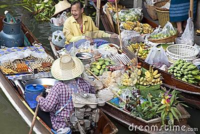 Noen Saduak Floating Market - Thailand Editorial Photography