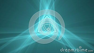 Noeud de trinité de Triquetra jouant la fusée légère