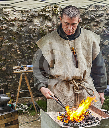 Portrait of a Blacksmith Editorial Photo