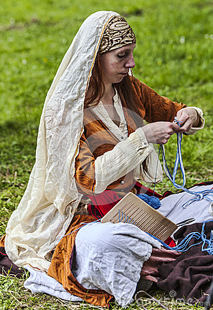 Medieval Woman Editorial Photo