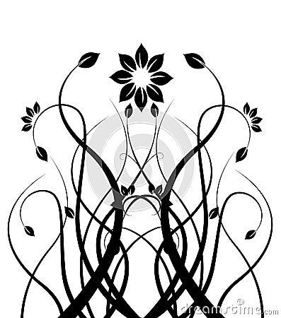 Noir et blanc photos libres de droits image 17906008 - Dessin de fleur en noir et blanc ...