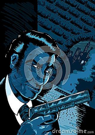 Noir spy scene