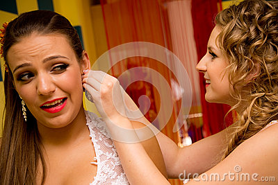 Noiva e dama de honra