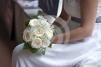 Noiva e ramalhete