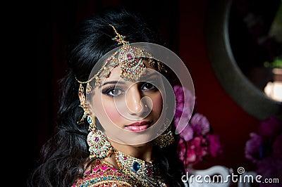 Noiva indiana lindo