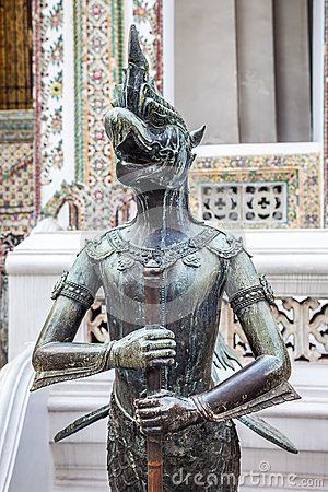 Nok Tantima Bird Statue in Grand Palace, Bangkok