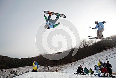 Nokia Freestyle Tour 2011 in Valca, Slovakia Editorial Stock Photo