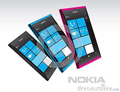 Nokia Lumia Windows Phones in Color Editorial Photography