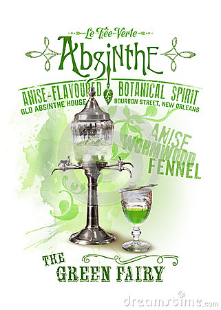 Free NOLA Collection Absinthe The Green Fairy Background Stock Photo - 44301000