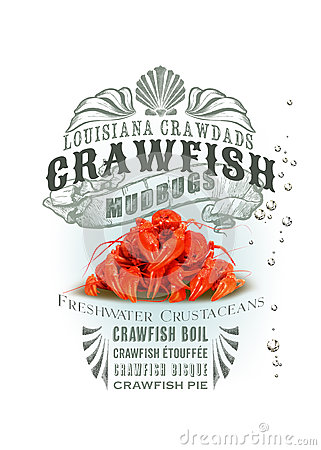 Free NOLA Collection Louisiana Crawfish Background Royalty Free Stock Photography - 44300177