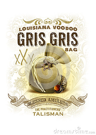 Free NOLA Collection Louisiana Voodoo Gris Gris Bag Background Royalty Free Stock Photo - 44301075