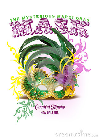 Free NOLA Collection Mardi Gras Mask Background Stock Photography - 44299982