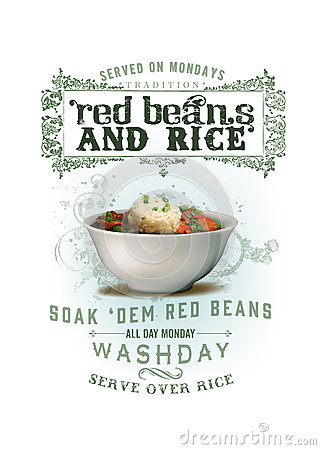 Free NOLA Collection Red Beans And Rice Background Royalty Free Stock Photos - 44301368