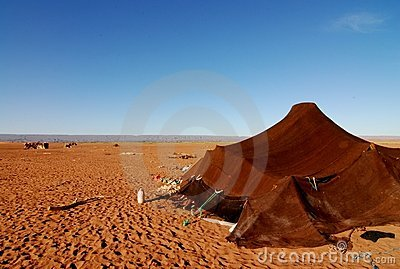 Nomad Tent in Sahara Desert