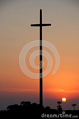 Nombre de Dios cross at sunset