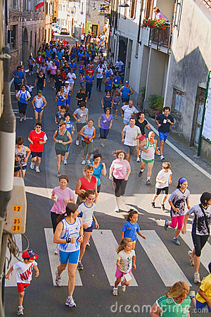 Free Non Competitive Running Race Royalty Free Stock Photography - 19687077