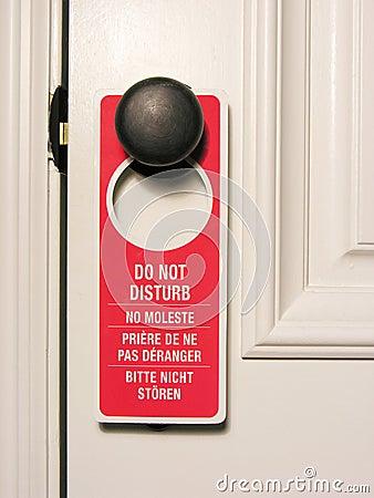 Non disturbi