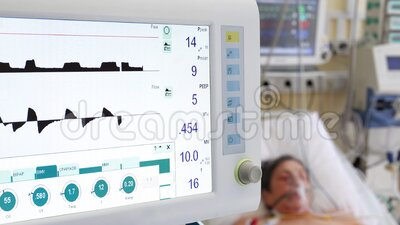 Non-invasive ventilation in a patient with a pneumonia stock video footage