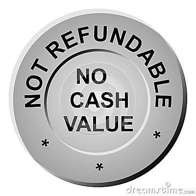 Non-refundable Token Stock Photos - Image: 7002573