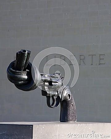 Non-violence replica statue Editorial Image