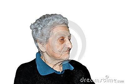 Nonagenarian woman