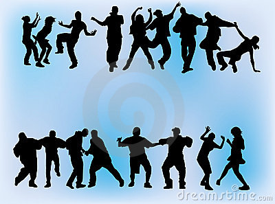 танцы толпы