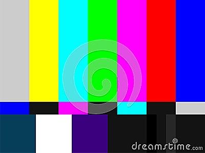 棒色的信号电视