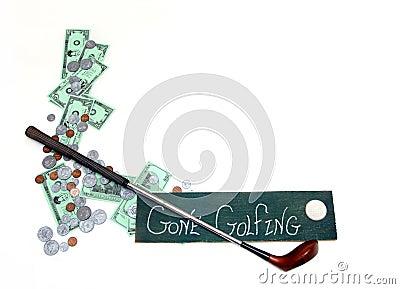 预算值打高尔夫球