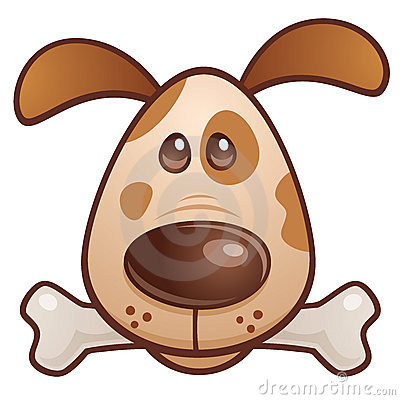 骨头棕色小狗