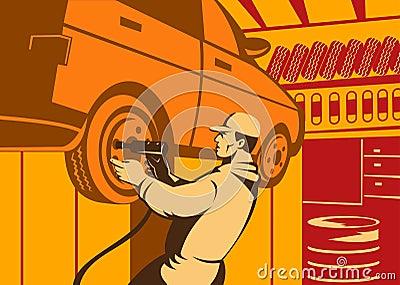 汽车机械师工作