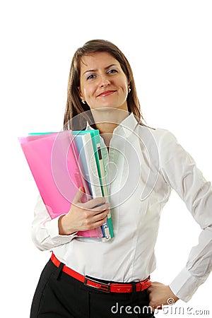 企业微笑的妇女
