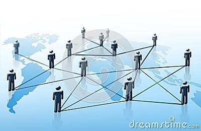 Συνδεμένοι τρισδιάστατοι άνθρωποι