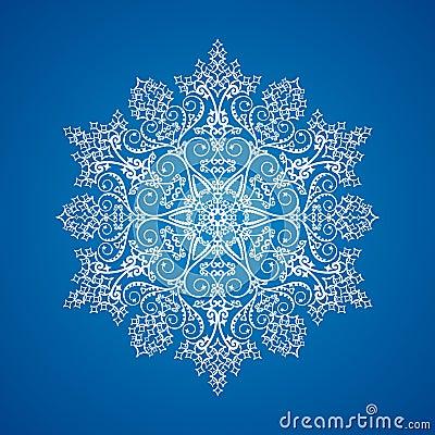 детальная одиночная снежинка