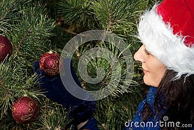 рождество украшая вал