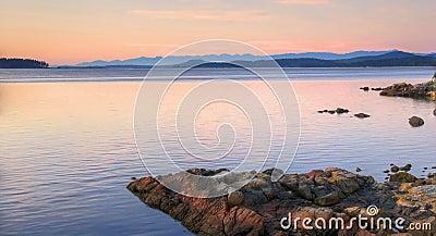 восход солнца Британского Колумбии осени