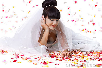 美丽的新娘瓣上升了