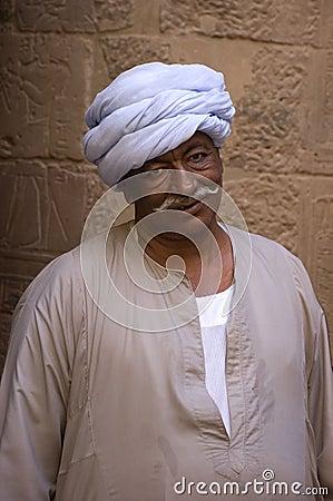 阿拉伯衣物穿戴的埃及传统 编辑类库存图片