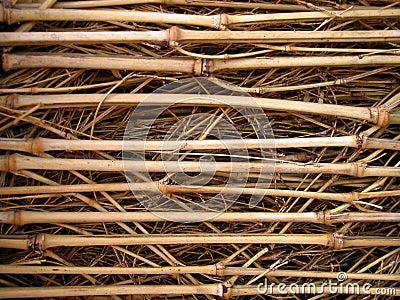 竹纹理篱笆条