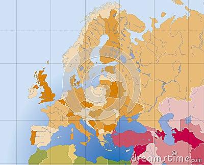 欧洲映射向量
