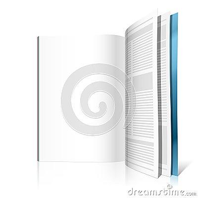 空白杂志页