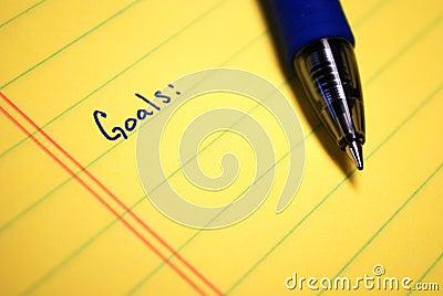 написанные цели