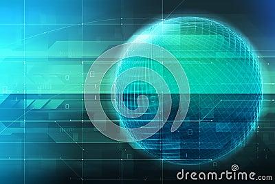 概念地球发光的技术