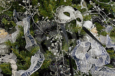 背景圣诞节装饰了屏蔽结构树